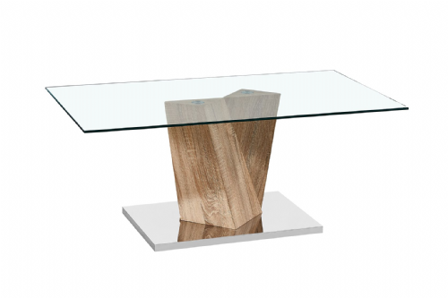 Lamp Table AXE 160 Oak Effect  By Denelli